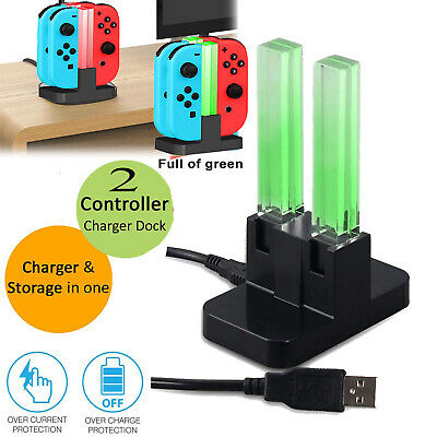 LED 4 In 1 TYPE-C Charging Dock For Nintendo Switch Joy Con Controllers UK Stock