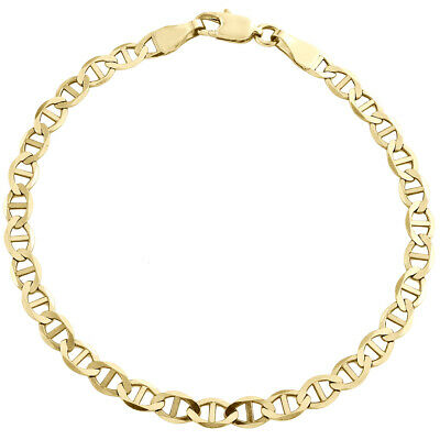 10k Yellow Gold Solid Mariner Necklace Chain 4.0 mm 30''  30 inch Mens Womens