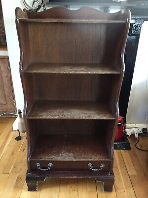 Antique Style Mahogany Waterfall Bookcase