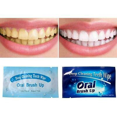Dental Brush Up Whitening Finger Strips Wipes Tooth Care Oral Clean Deep R7K4