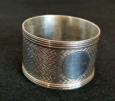 An antique sterling silver napkin ring.Birmingham 1921. By William Davenport.