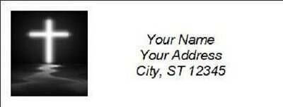 300 Personalized Christian Religious Return Address Labels (R004)