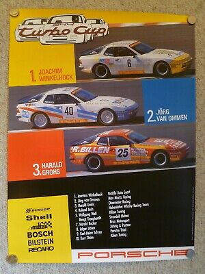 1986 Porsche 944 Turbo Cup 1,2,3 Showroom Stock Advertising Sales Poster RARE!!