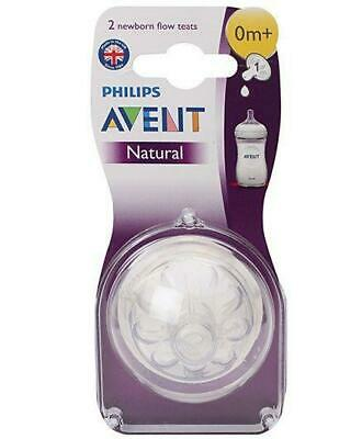 Avent Natural Teats, Newborn, Pack of 2