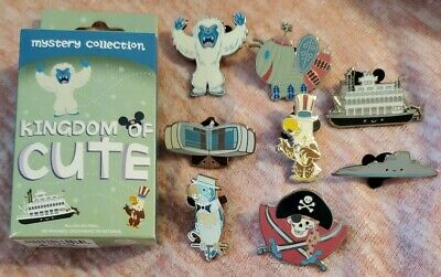 Disney Parks Kingdom of Cute Series 2 Mystery Box Complete 8 Pin Set Yeti Jose++