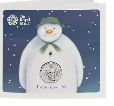 Brand New Royal Mint Christmas 50p snowman 2019 Xmas Coin Bunc In Hand :)