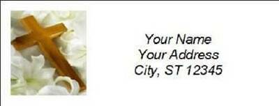 300 Personalized Christian Religious Return Address Labels (R008)