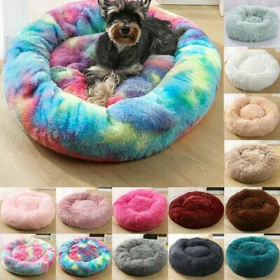 Pet Dog Cat Round Cute Nest Comfortable Sleeping Calming Bed Warm Soft Plush New