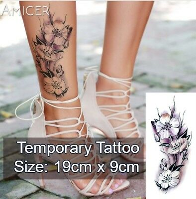 Temporary Tattoo Floral Stickers Flower Body Art Fake Waterproof UK /-b4-/