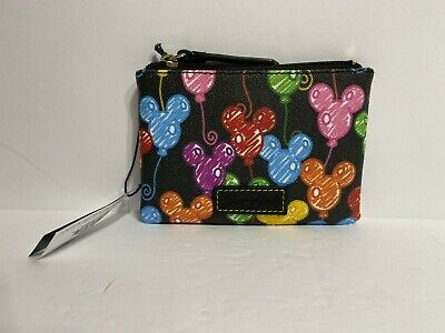 Disney Parks Dooney & Bourke 10th Anniversary Mickey Balloons Coin Pouch NEW