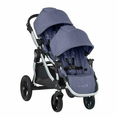 Baby Jogger City Select Twin Tandem Double Stroller w/ Second Seat Moonlight New