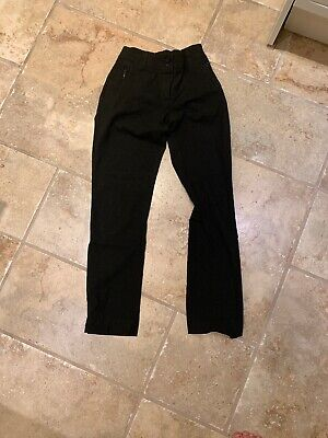 Girls Marks & Spencer Black School Trousers Age 13-14 Yrs