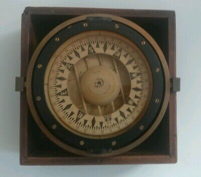 Rare Antique Chas C Hutchinson Compass nautical ship maritime boston