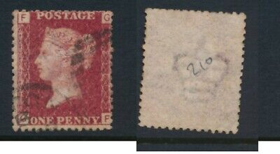 GB, 1864 penny red SG43, plate 210  undamaged and fine  cat £15