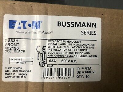 10 X Bussman  Rs63H 63A (Max) Fuse Base & Carrier New