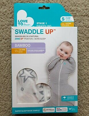 NEW Love To Dream Swaddle Up Bamboo Small Sleeping Bag 3.5-6kg 1.0 TOG Unisex