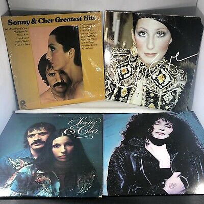 Cher LP Lot: Sonny & Cher Greatest Hits, Superpak, The Two of Us, Cher