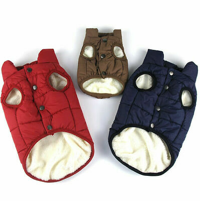 Waterproof Winter Warm Padded Dog Clothes Pet Coats Vest Jacket Cats Dogs 7 Size