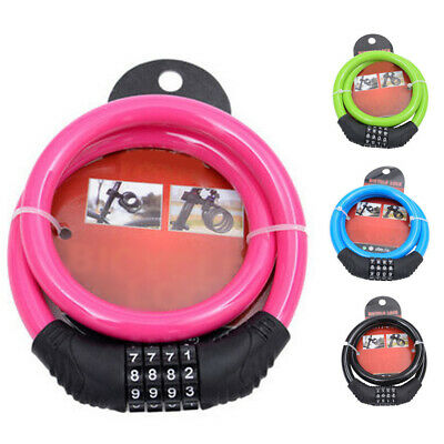 Combination Cable lock Accessories Car Motorcycles Anti-theft Security