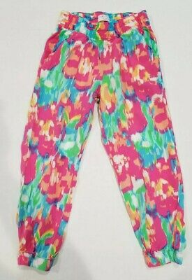 Girls Multi Colored Pink/Green Harem Ankle Pants Size 5/6 By The Childrens Place