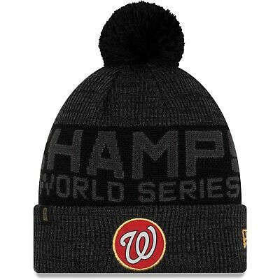 Washington Nationals New Era MLB World Series Champions Locker Room Knit Cap Hat