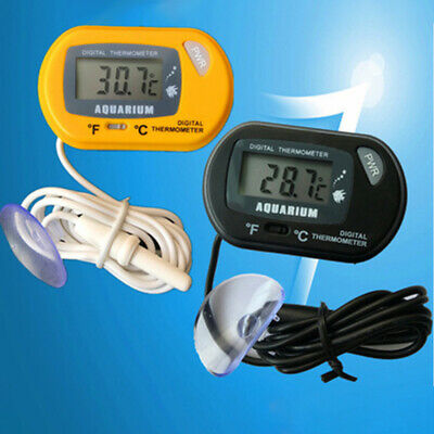 Aquarium Thermometer LCD Digital Display Fish Tank Temperature&Suction Cup BY