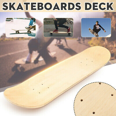 5PCS 8/'/' Blank Double Concave Skateboards Natural Maple Skate Board Deck  UK