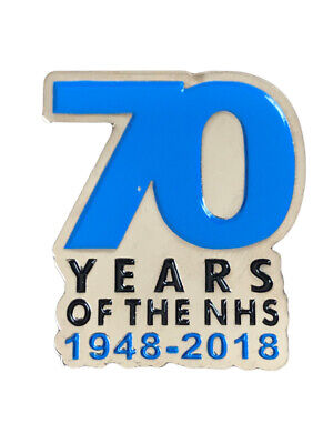1948-2018 70 Year Of The NHS National Health Service Pin Badge Enamel Brooch