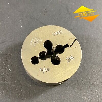 "P&N 5/16"" 24 Sae 1-1/2"" Od Elastic Button Die Thread Cutting Metalwork Saeb1"
