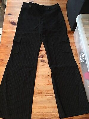 Girls Pinstriped Trousers Age 12
