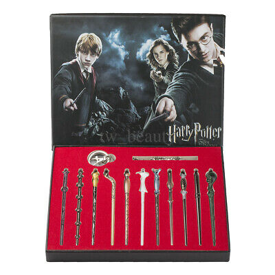 11 PCS Harry Potter Hermione Dumbledore Magic Wands With Box Halloween Cosplay