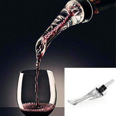 Premium White Red Wine Aerator Pour Spout Bottle Pourer Aerating Decanter AU