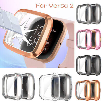 Protect Case Shell TPU Anti-fall Full Cover Screen Protector For Fitbit Versa 2