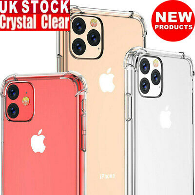 UK Soft Bumper Silicone Case For iPhone 11/11Pro Max Shockproof Slim Clear Cover