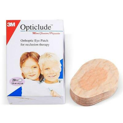 3M Opticlude Junior Orthoptic Eye Patches, 5cm x 6.2cm, Pack of 20