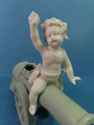 Antique Art Nouveau Putti/Cherub Jasperware Pin Cushion/Spill Vase