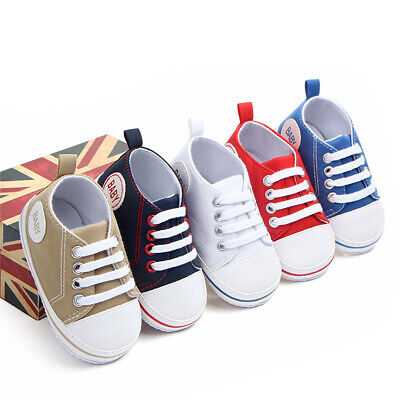 Newborn Baby Boy Girl Pram Shoes Infant Casual Shoes Toddler Pre Walker Trainers