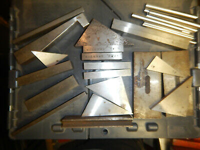 Pile Of Machinist Setup Tooling Parallels Blocks Triangles Jig Fixture