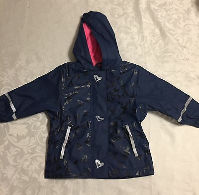 New baby boy or girl wind and ☔️Waterproof Jacket 12-24 months Lupilu navy& pink