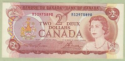 1974 Bank of Canada Two Dollar Test Note - Lawson/Bouey - RS2975890 - UNC