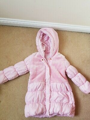 Age 2-3 Years Pink Padded Coat hood puffa parka Autumn Winter Matalan