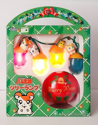 Brand New Japan Epoch Hamtaro Christmas Sparkling Lighting Ornament Authentic
