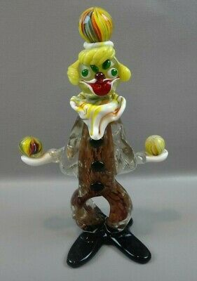 Vintage Murano Glass Clown Figurine ~ Juggling Balls ~