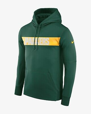 NIKE DRI FIT Therma NFL Packers Pullover Hoodie New With