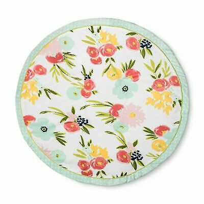 CLOUD ISLAND Round Activity Playmat Floral Fields BLANKET- Pink BABY GIRL New