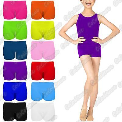 New Kids Girls Microfiber Plain Knickers Dance School Gym Tutu Shorts Hot Pants