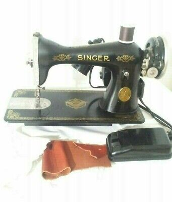 1936 Singer Sewing Machine 15  RAF  Decals, stitches perfectly (N231f)p1