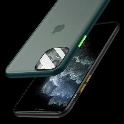 Built-in GLASS Lens Screen Protector Case for iPhone 11 PRO MAX Bumper Cover