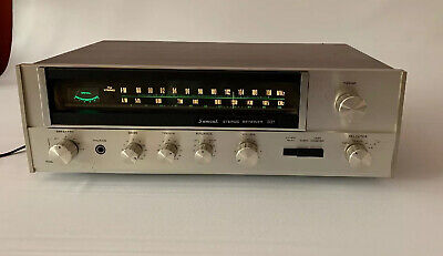 Vintage Sansui Receiver Model 331 Stereo Wood Grain Silver Face - TESTED WORKING