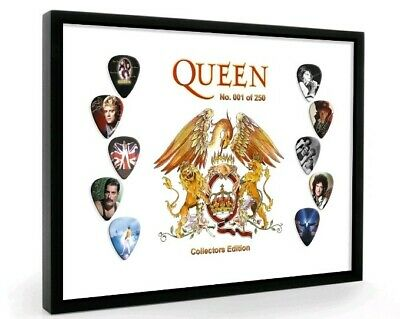 Queen Plectrum Set Display Brian May/Freddie Mercury